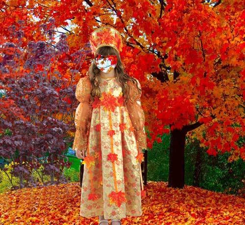 Детские картинки девушка осень
